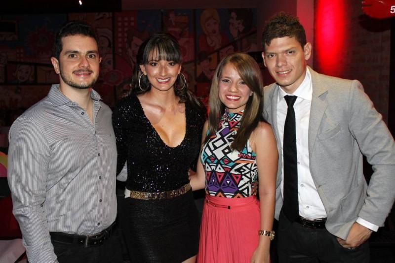 Oscar Serrano, Dayanna Villamizar, Julieth Acevedo y Luis Celis. - Nelson Díaz / GENTE DE CABECERA