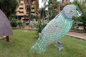 Las Palmas fue otro de los sitios escogidos para decorar con el material reciclable