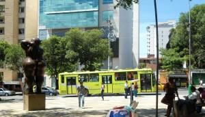 De las que recorren el sector, solo la ruta P13 es padrón, el resto alimentadores. - Tatiana Celis / GENTE DE CABECERA