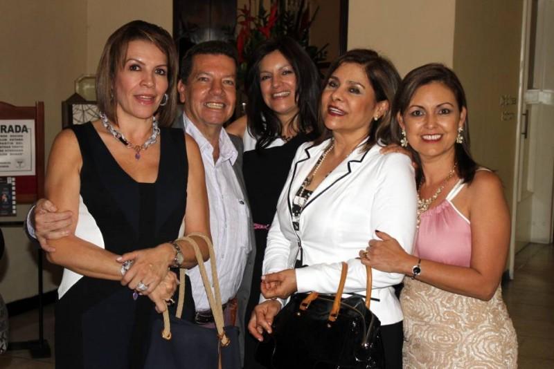 Marcela Duarte, Rodrigo Rodríguez, Lida Pinto, Irma Rueda y Martha Isabel Lozano.