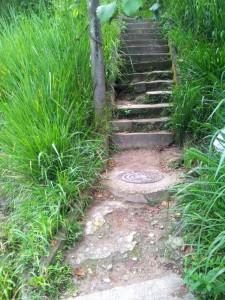Es evidente el deterioro de las escaleras que comunican con Pan de Azúcar. - Suministrada /GENTE DE CABECERA
