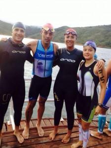 Varios triatlonistas santandereanos lograron destacadas participaciones en eventos nacionales e internacionales, a finales de noviembre. - Suministrada Ángela Romero / GENTE DE CABECERA