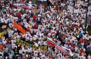 El pasado 12 de diciembre se llevó a cabo en Bucaramanga una multitudinaria manifestación en contra del cobro de valorización.  - Archivo  / GENTE DE CABECERA