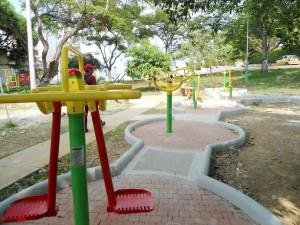Las máquinas en el parque de Las Mercedes se empezaron a instalar desde diciembre del año pasado (2013). - Tatiana Celis / GENTE DE CABECERA