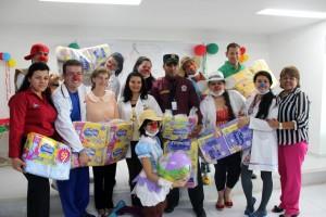 El inicio de la entrega de pañales se hizo en el Hospital Universitario de Santander, con 12.500 pañales. - Suministrada /GENTE DE CABECERA