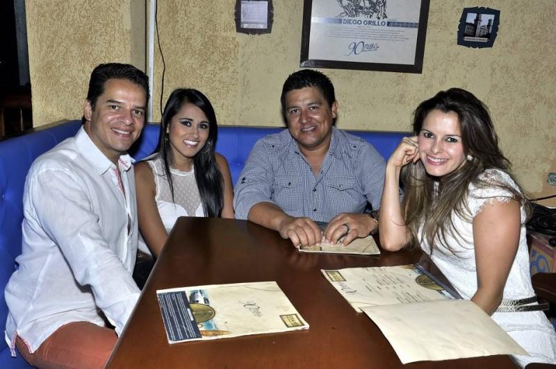 Marcela Sánchez, Eduard Flórez, Alexis Gómez y Sabina Mogollón. - Laura Herrera /GENTE DE CABECERA