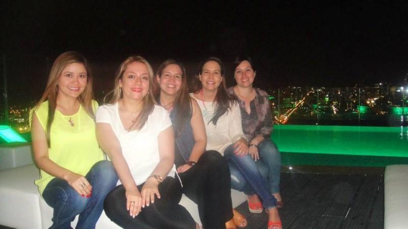 Luisa Fernanda Gamboa Picón, Ángela María Mateus, Andrea Lizarazo, Angélica Lizarazo y Laura María Mateus. - Suministrada /GENTE DE CABECERA