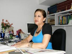 Lucrecia Amaya Ortega es la adminstradora de Chicamocha Centro Empresarial y quien se ha preocupado por la fuente de la calle 36.