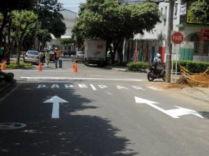 Esta vía, la calle 44, ahora será solo en sentido oriente – occidente, es decir, únicamente bajando. - Suministrada / GENTE DE CABECERA
