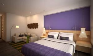 Son 67 habitaciones: 8 estándar twin, 49 estándar queen, 7 family, 1 habitación para discapacitados y una suite con terraza y jacuzzi