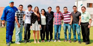 El grupo de nuevos deportistas y estudiantes Udes junto ya empezó labores académicas. - Suministrada /GENTE DE CABECERA