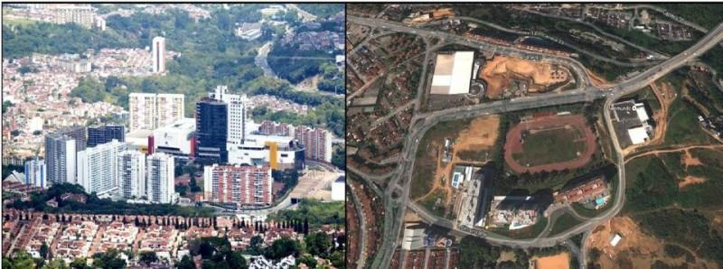 Este era el panorama entre 2009 y 2010 cuando se empezó a proyectar la zona con Cacique Centro Comercial y el Parque Intercambiador de Neomundo. Hoy el sector se ve más poblado con más torres residenciales y con el centro comercial.