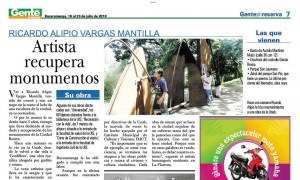 Hace más de tres años Gente de Cabecera informó sobre la recuperación de esta escultura.