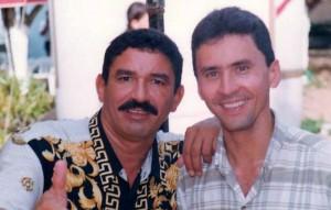 Junto a Marciano Martínez, un destacado compositor vallenato