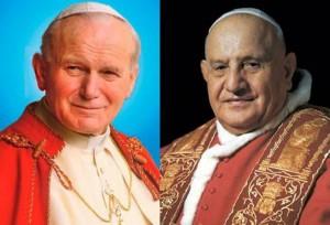 Los Papas Juan Pablo II (izquierda) y Juan XXIII serán canonizados este domingo en Roma.  - Suministrada /GENTE DE CABECERA