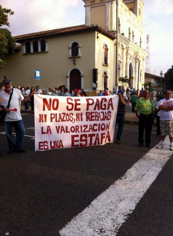 La comunidad ha protestado en varias ocasiones en contra del cobro de valorización