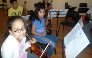 Allí confluyen niños que se han formado musicalmente en varias escuelas.
