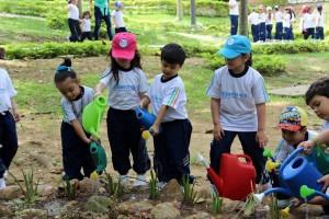 Los estudiantes participaron felices en las actividades encaminadas a sembrar en ellos el amor por el medio ambiente. - Suministrada / GENTE DE CABECERA