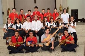 Estos son los jóvenes que componen el Ensamble Sinfónico San Pedro Claver. - Suministrada Johana Quintero / GENTE DE CABECERA