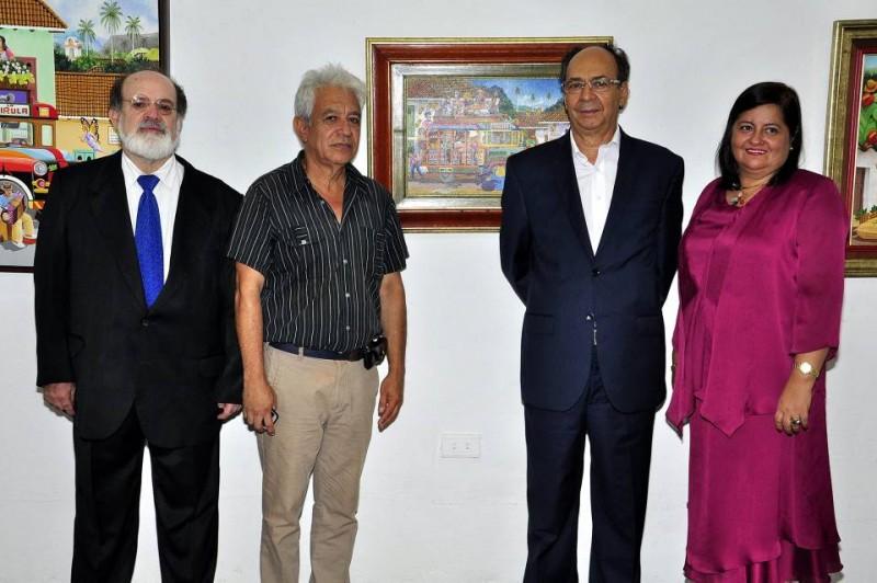 Mario Gómez Díaz, Carlos Prada Hernández, Diego Otero y Amparo Tristancho Torres. - Laura Herrera / GENTE DE CABECERA
