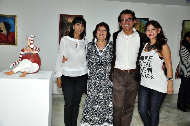 Yadira Polo, Isabel Crooke, Pacho Centeno y Adriana González. - Laura Herrera / GENTE DE CABECERA