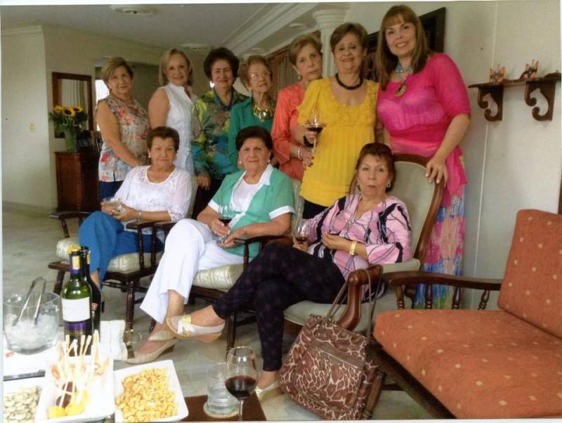 Beatriz de Lizcano, Teresita de Linares, Elvia Beltrán, Libia de Rodríguez, Martha Durán, Susana de Marín, Nury de Piñeres, Bertha de Pérez, Marina de Grosso y Soraya Pérez. - Suministrada /GENTE DE CABECERA