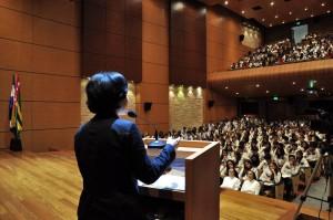 Los eventos principales se desarrollaron en el auditorio del colegio de La Presentación. - Fotos: Laura Herrera / GENTE DE CABECERA
