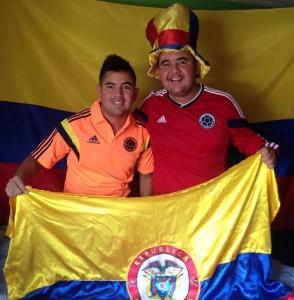 Camilo Andrés y Víctor Raúl Cárdenas viven la pasión del Mundial 2014 desde ya