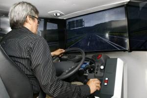 Estos son los simuladores en los que se hacen las pruebas de manejo. - Fotos: César Flórez / GENTE DE CABECERA