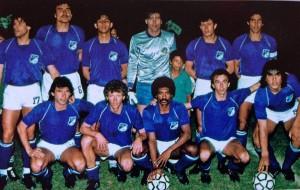 Norberto (segundo hincado de izquierda a derecha) hizo parte de una nómina de lujo en el club Millonarios de Bogotá. - Tomada de www.bestiariodelbalon