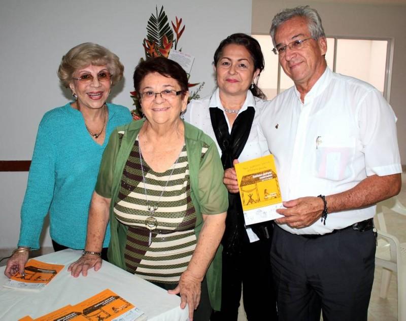 Eddy Correa, Gloria Ortiz Rangel, Alfredo Vesga y Gloria Helena Ortiz. - Javier Gutiérrez / GENTE DE CABECERA