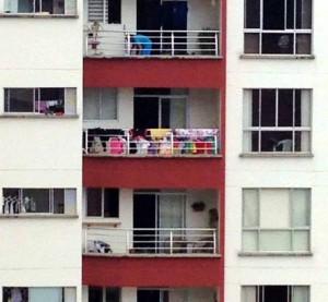 Nuevamente vecinos de Cabecera se quejan por apartamentos donde tienden ropa en los balcones, dándole un aspecto no tan agradable. - Suministrada / GENTE DE CABECERA
