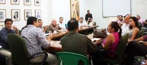En la sede de Fenalco se reunieron las autoridades de gobierno y de Policía con los representantes de bares, restaurantes y tiendas de la ciudad