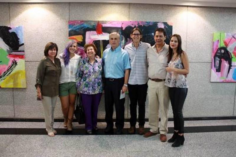 Libia Rodríguez, Sandra Rodríguez, Emma Silva, Luis Manuel Rodríguez, José Luis Sánchez Rodríguez y Laura Pedraza. - Suministrada / GENTE DE CABECERA
