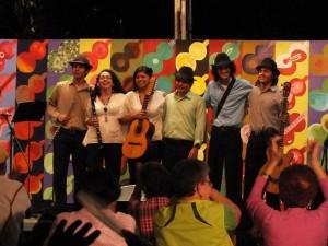 Los niños se roban los aplausos en los conciertos que se realizan en la finca Villa Leo
