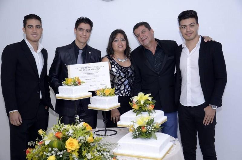 David Quijano, Christian Quijano, Claudia Bárcenas, Luis Quijano y Ánderson Quijano. - Suministrada Manuel Reyes / GENTE DE CABECERA