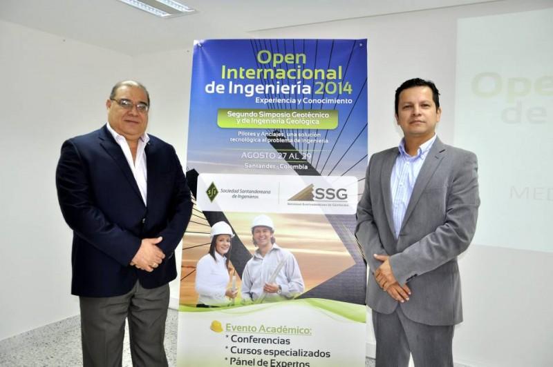 Carlos Yepes Maya, presidente de la Asociación Santandereana de Ingenieros, y José Rubén Torres, presidente de la Asociación Santandereana de Geotecnia. - Laura Herrera / GENTE DE CABECERA