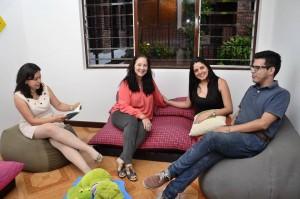 Algunos de los líderes de Labos: Cristina Solís, Gisella Flórez, Diana Álvarez Rodríguez y Juan Sebastián Mendieta. - Suministrada / GENTE DE CABECERA
