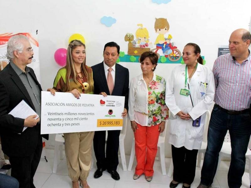 El dinero entregado a la Unidad de Pediatría del HUS será invertido en una sala lúdica pedagógica, para hacer amena la estadía de los niños mientras les practican sus tratamientos