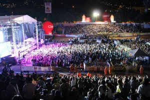 Algunos conciertos de la feria son gratuitos y las boletas se distriyuneron, en su mayoría, en las universidades.