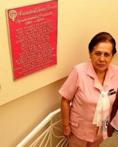 Doña Rosita Hilarón de Gómez hace parte de las Damas Rosadas y desde allí dirige la fundación Ideales. - Archivo / GENTE DE CABECERA