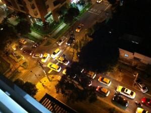 Así se ven estas calles en la noche, con mucho flujo vehicular. - Suministrada / GENTE DE CABECERA