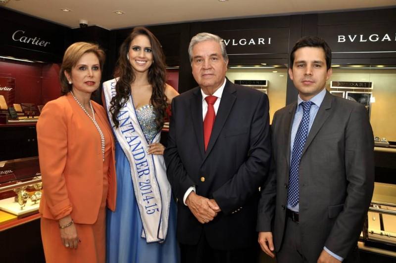 Sheila Azad, Lina Maria Ardila Flórez, señorita Santander; Jorge Azuero y Jorge Andrés Azuero. - Didier Niño / GENTE DE CABECERA