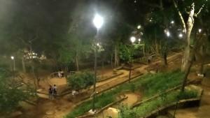 Así se observa el parque desde la carrera 39A.