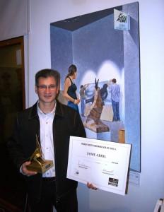 Jaime Abril recibió el Premio Grau a las Artes 2014. - Suministrada /GENTE DE CABECERA