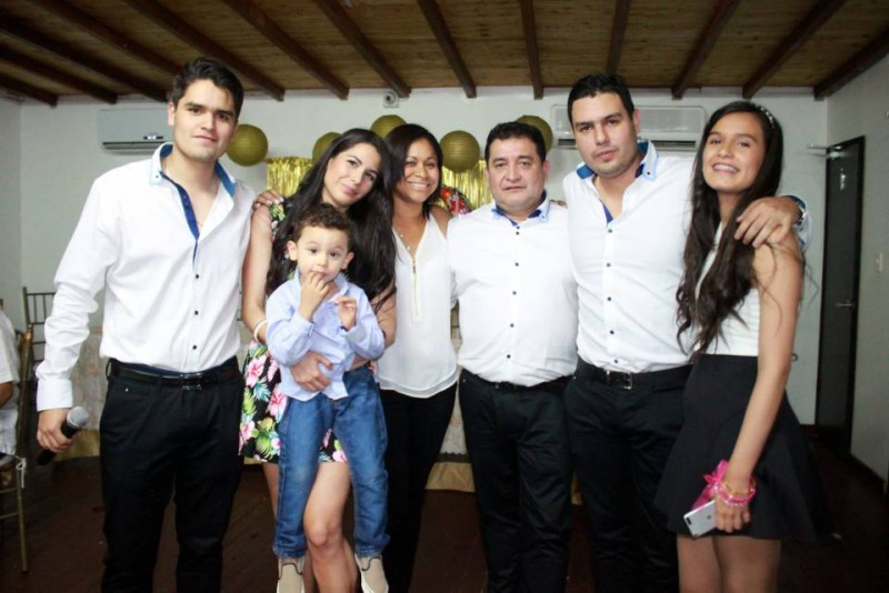 José Manuel Martínez, Katherine, Samuel (niño), Nasly de Martínez, José Manuel Martínez Ariza, Carlos Manuel Martínez y Manuela Martínez. - Suministrada / GENTE DE CABECERA