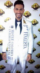 Jonatan Hair Rodríguez ocupó el tercer puesto en Mister Colombia Internacional. - Suministrada / GENTE DE CABECERA