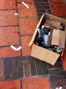 Las basuras hacen parte del panorama nuevo de la zona.