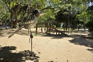 En octubre del año anterior la Alcaldía de Bucaramanga entregó obras de adecuación de algunas áreas verdes del parque San Pío, sin embargo de eso hoy queda una zona árida. - Fotos Laura Herrera /GENTE DE CABECERA