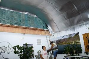 El techo del negocio está siendo sometido a adecuaciones especiales para insonorizar el establecimiento. - César Flórez / GENTE DE CABECERA